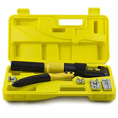 Best Choice Products 10 Ton Hydraulic Wire Battery Cable Lug Terminal Crimper Crimping Tool 9 Dies