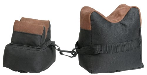 - Outdoor Connection Leather Filled Bench Bag (2-Piece Set), Black