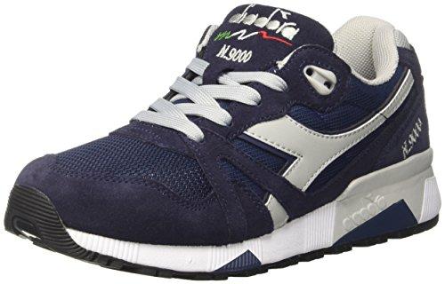 Grattaciel Diadora Grigio Sneaker Collo Blu Adulto N9000 Unisex a Basso III Blu Classico rxr87cqPW