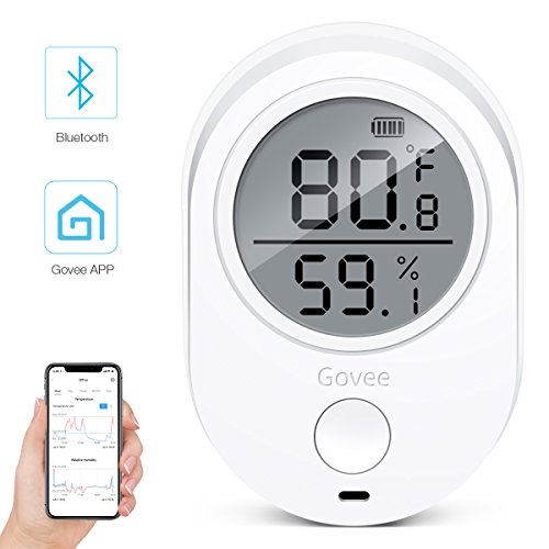 - Govee Thermometer/Hygrometer with Bluetooth, Wireless Temperature Humidity Monitor with LCD Screen Wireless Temperature Sensor with Data Logging Accurate Humidity Monitor Working for iPhone Android