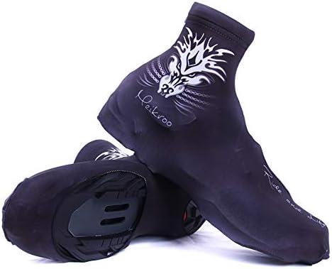シューズカバー 防水 バイクサイクリングシューズユニセックスウィンター防風サーマルフリース通気性カバーバイク自転車オーバーシューズアウトドアスポーツ 靴保護 梅雨対策 通勤通学 自転車用 (Size : L)