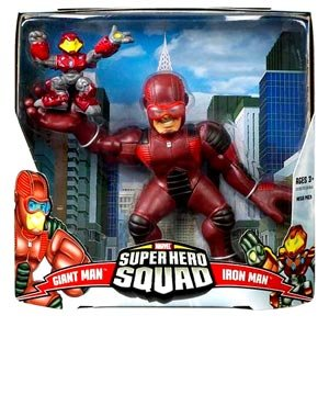 (Marvel Super Hero Squad Giant Man and Iron Man Mega Size Pack Action Figure Set)