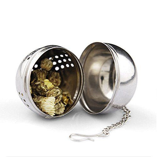 Funnytoday365 Stainless Steel Tea Infuser Strainer Tea Filter Tea Pot Accessories Tool For Kitchen Households Gadget Tea Ball by FunnyToday365 (Image #3)
