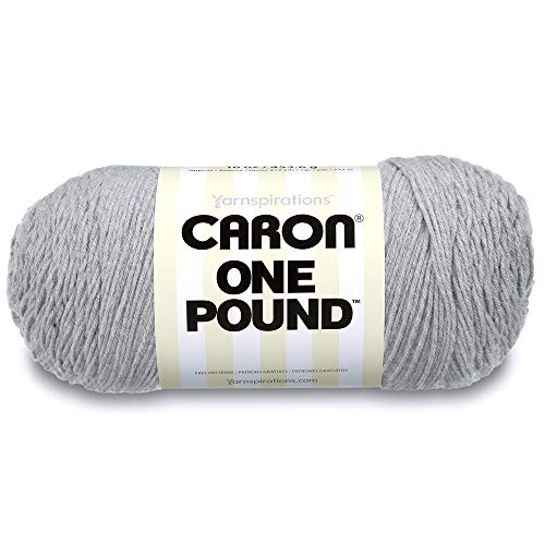 Caron One Pound Yarn Soft Gray Mix