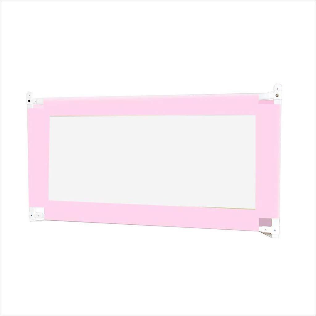 Barriera letto PENGJUN Recinzione per Bambini per Bambini Anti-Caduta Sollevamento verdeicale guardavia Universale 1.5-1.8-2 m (colore   rosa, Dimensioni   1.5m)