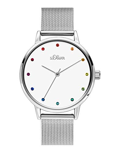 s.Oliver Womens Analogue Quartz Watch with Stainless Steel Strap SO-3780-MQ