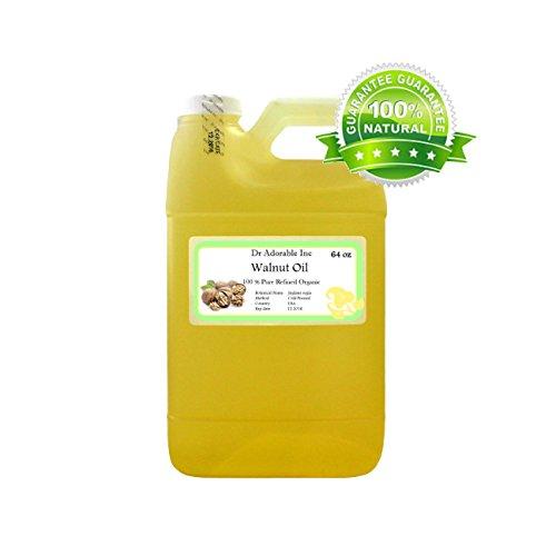 Walnut Oil Organic Cold Pressed 64 Oz / 2 Quarters