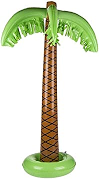 OOTB- Palmera Inflable, Estilo Tropical, Color Verde y café (91/4149)