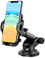MOSOTECH Car Phone Mount, 360° Rotation One-Key Release Car Phone Holder with Washable Strong Suction Cup for iPhone 11/11 Pro /11 Pro Max/XS Max/XR/X 8Plus, Galaxy S10/S10e/S9, Huawei Mate30/P30
