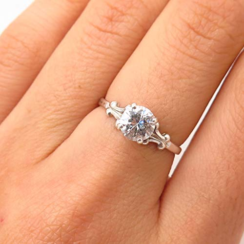 (925 Sterling Silver Kabana C Z Ornate Design Engagement Ring Size 6 Jewelry by Wholesale Charms )