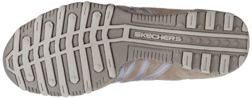 hot Women's Bikers Brown Skechers Ticket blue Shoes taupe twq51zd