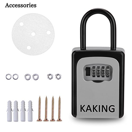 Front Door Lock Box with 4-Digit Combination for Realtor Construction Seniors Family and Friends by KAKING (Image #5)