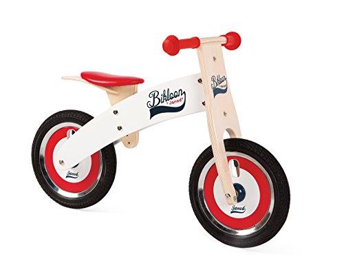Janod-Bikloon-bicicleta-sin-pedales-color-rojo-y-blanco-J03266