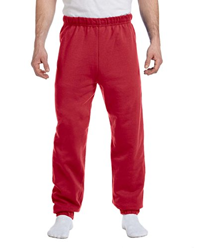 Jerzees 8oz. NuBlend 50/50Sweatpants rojo (True Red)