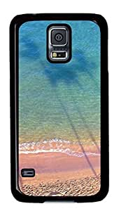 iCustomonline Beach Personalized PC Case Back Cover for Samsung Galaxy S5 Black