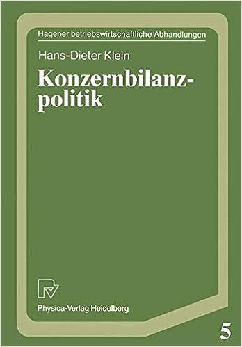 Konzernbilanzpolitik (Hagener Betriebswirtschaftliche Abhandlungen)