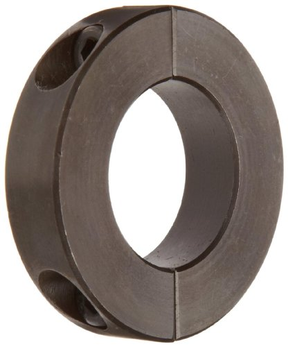 Climax Metal H2C-031 Shaft Collar, Two Piece, Black Oxide Finish, Steel, 5/16'' Bore, 13/16'' OD, 1/4'' Width, With 4-40 x 3/8 Set Screw by Climax Metals