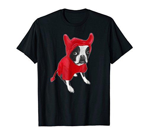 (Cute Boston Terrier Devil Costume)