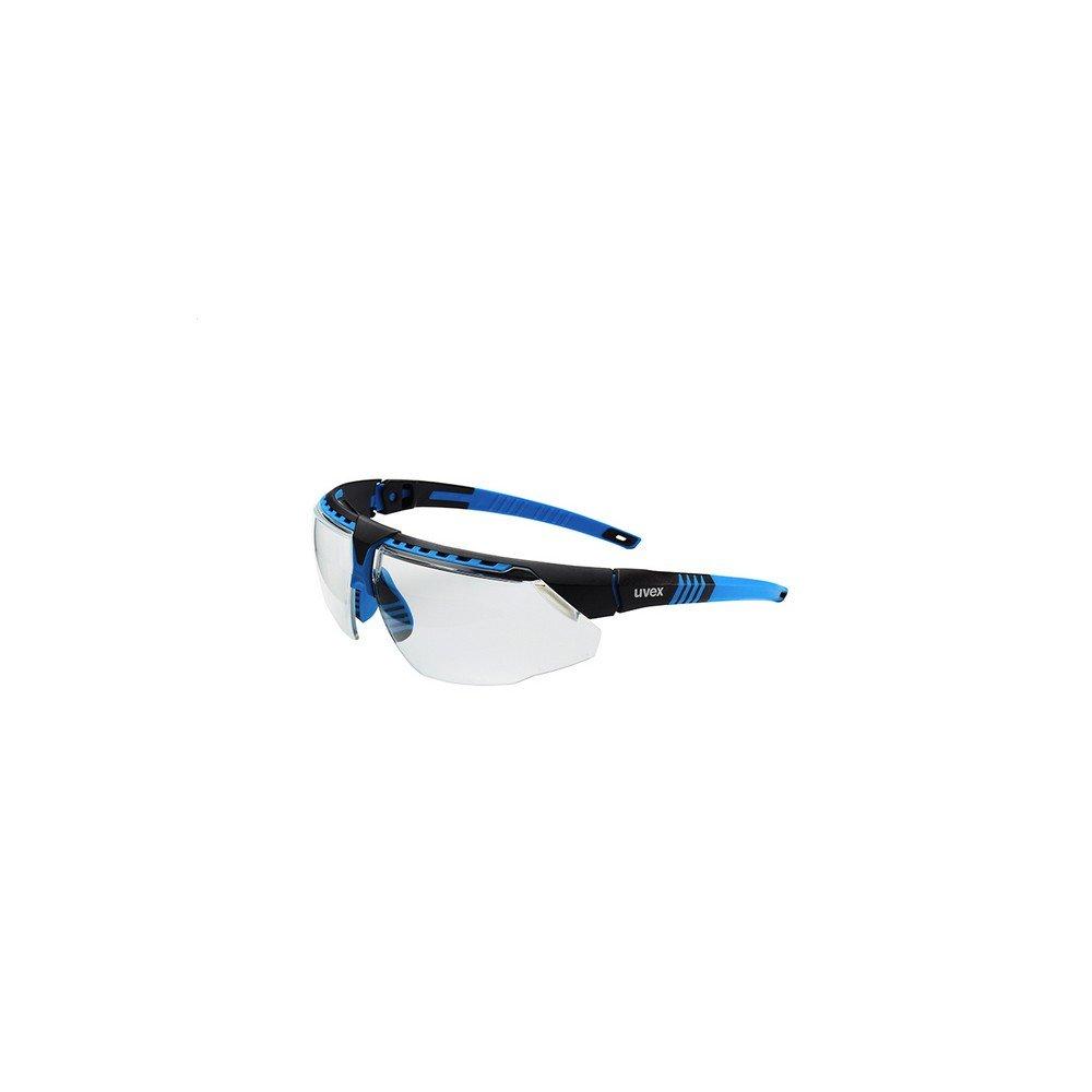 Uvex S2870HS Avatar Adjustable Safety Glasses with HydroShield Anti-Fog Coating, Standard, Blue/Black