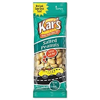Kar's Nuts Salted Peanuts 2-Ounce Bags (Box of 24 bags)