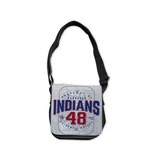 """Hannover Indians """"Indians 48"""" Umhängetasche klein, Schwarz"""
