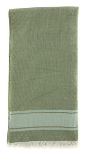 new-cesare-attolini-green-cotton-blend-scarf