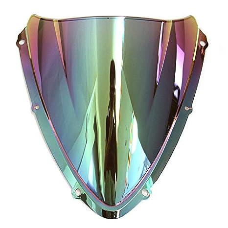 Schwarz Motorrad Doppelte Blase WindScreen Autobike Windschutzscheibe Windabweiser Luftstrom Fit F/ür Suzuki GSX-R600 750 K8 2008-2010
