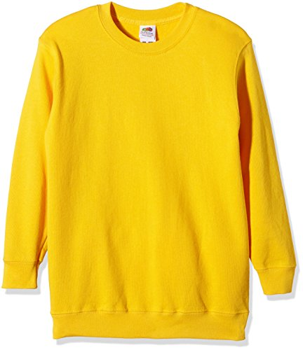Fruit of the Loom Childrens Big Boys Set in Sleeve Sweatshirt (12-13) (Sunflower) ()