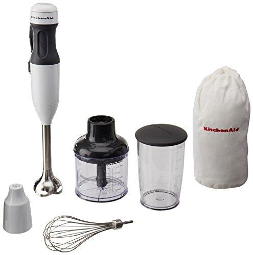 KitchenAid White 3-Speed Hand Blender