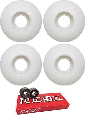 53 mm EssentialsスケートボードWheels with Bones Bearings – 8 mmスケートボードベアリングBones Super Redsスケート定格 – 2アイテムのバンドル   B06X3WGNFC