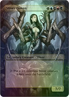 Sliver Queen - Casual Play Only - Customs Altered Art Foil