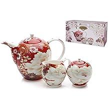 Maxwell & Williams Kimono Tea Set of 3, Red