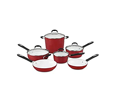 Cuisinart Elements 10-pc. Red Ceramic Cookware Set