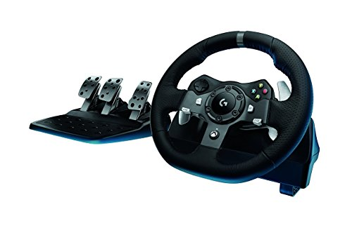 Price comparison product image Logitech G920 Dual-motor Feedback Driving Force Racing Wheel with Responsive Pedals for Xbox One (Certified Refurbished)