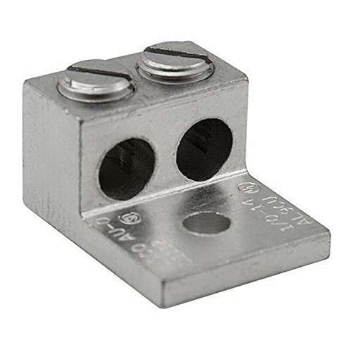 Ilsco AU-800 Electro Tin Plated Aluminum Alloy Dual Rated Mechanical Lug (2) 800-300 KCMIL 5/8 Inch