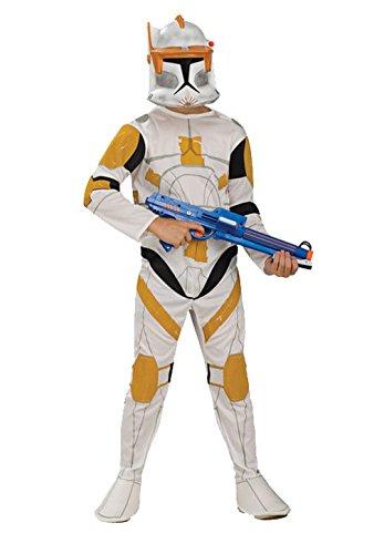 [Mememall Fashion Clone Wars Clone Trooper Commander Cody Child Costume] (Clone Trooper Commander Cody Child Costume)