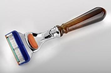 Máquina de afeitar concha de imitación, para Gillette Fusion: Amazon.es: Salud y cuidado personal