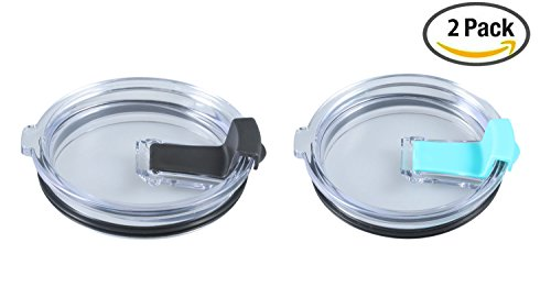 Foonii New Style Leakage Proof Lid for 30 oz Yeti Rambler & Tumbler and other Similarly Sized Tumblers ( Black&Green )