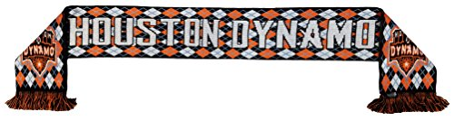RUFFNECK MLS Houston Dynamo Argyle Scarf, One Size, Orange by RUFFNECK
