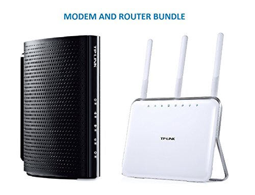 TP-Link DOCSIS 3.0 (8x4) High Speed Cable Modem (TC-7610) and TP-Link AC1900 Wireless Long Range Wi-Fi Gigabit Router (Archer C9) Bundle Kit - Comcast, TWC, Cox Cable, Brighthouse Compartible image