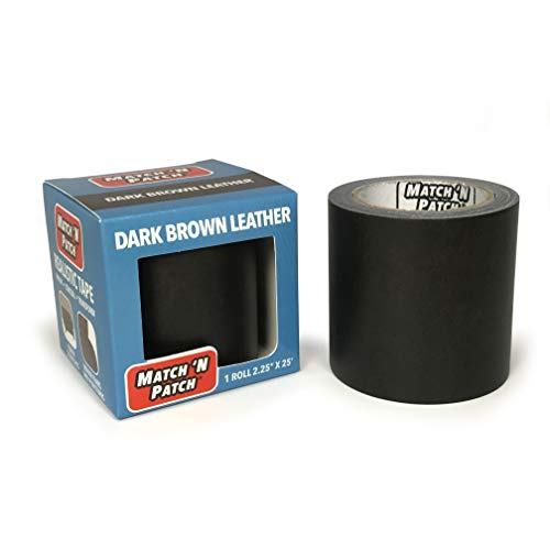 Match N Patch Realistic Dark Brown Leather Repair Tape (Thin Film Version)