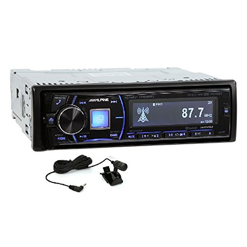 - Alpine CDE-HD149BT Single-Din Bluetooth Car Stereo with HD Radio, Premium LCD Display and SiriusXM Ready