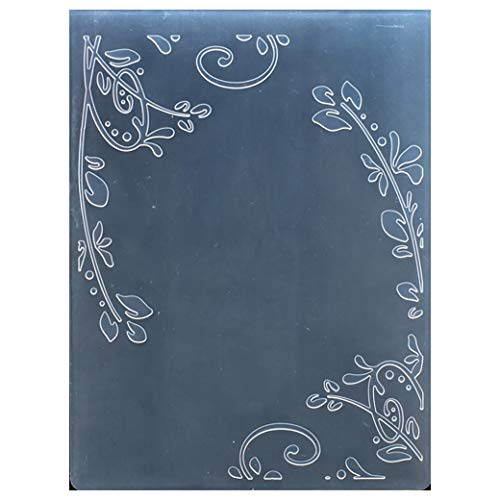 Kwan Crafts Leaves Corner Plastic Embossing Folders for Card Making Scrapbooking and Other Paper Crafts,10.5x14.5cm
