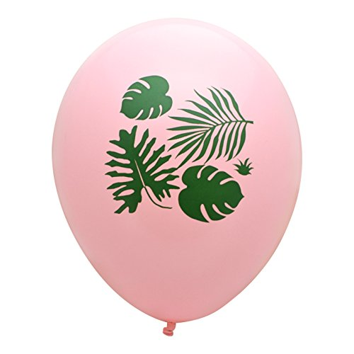 REVEL & Co Pink Tropical Leaves Party Balloons, made in America by REVEL & Co