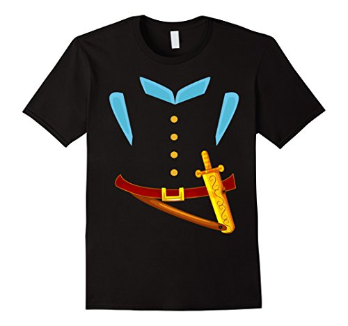 Knight In Shining Armor Costumes For Men (Mens Knight In Shining Armor Sword Suit Halloween Costume T-Shirt Medium Black)