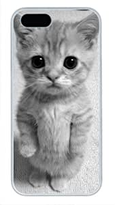 Protective PC Case Skin for iphone 5 White Fashion PC Case Back Cover Shell for iphone 5S with Cute Cat