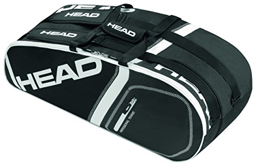 Head Core 6R Combi Tennis Bag Black and White