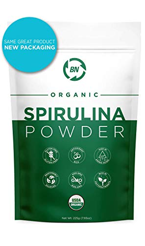 Spirulina Powder Organic - USDA Certified - RAW Nutrient Dense Over 70% Protein Per Serving - Purest Source Vegan Protein - Superfood - Rich in Vitamins and Minerals