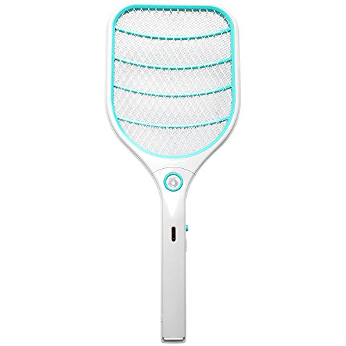 StillCool Electric Bug Zapper USB Charging Fly Swatter Mosquito Killer With Bright LED Light for Indoor And Outdoor Pest Control (Light Blue)