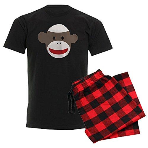 CafePress - Sock Monkey Face Men's Dark Pajamas